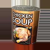 lata de sopa de pollo