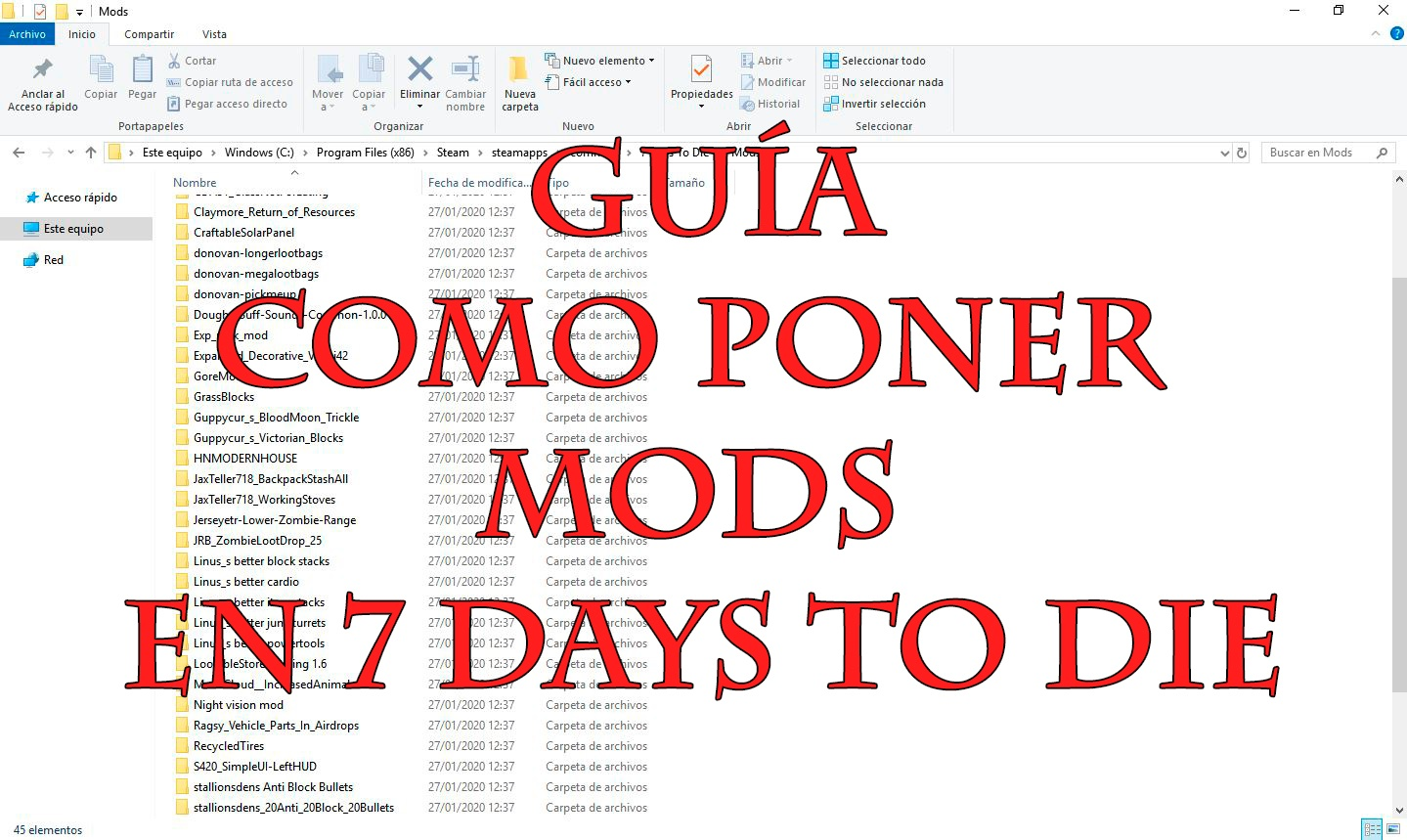 guia completa de como-poner-mods-en-7-days-to-die