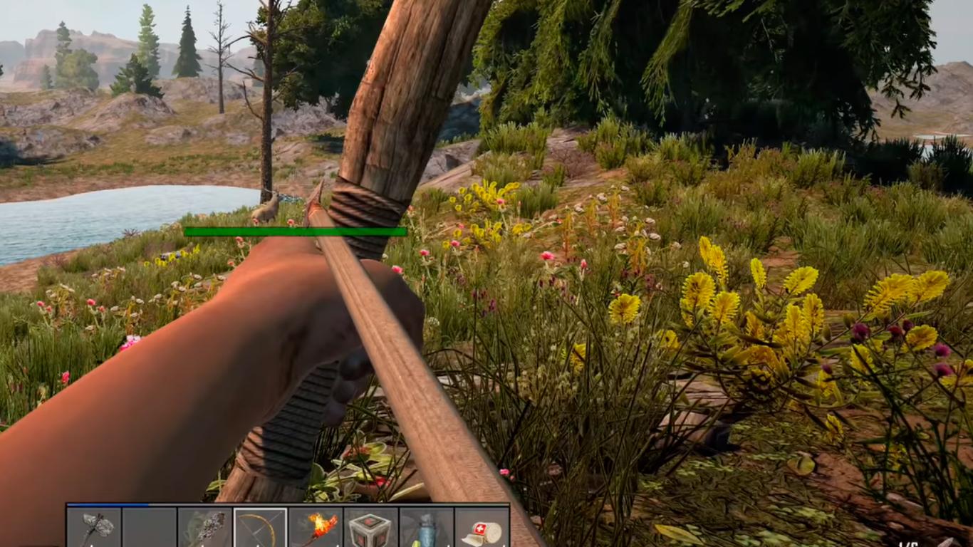 gameplay 7d2d cazando con arco