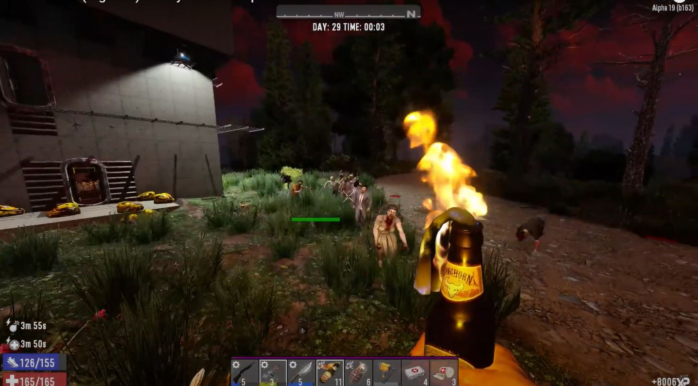 sobreviviendo a una horda de zombies en 7 days to die